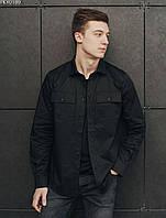 Рубашка мужская Staff black однотонная