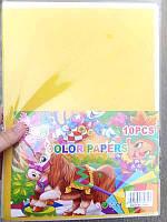 Цветная бумага бархатная А4 10л 9313 (45-9)