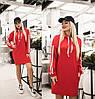 Спортивне сукня жіноча з капюшоном (6 кольорів) ТК/-2185 - Червоний