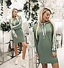 Спортивное платье женское с капюшоном (6 цветов) ТК/-2185 - Оливковый