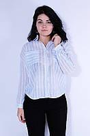 Рубашка женская белая в полоску размер L 3101