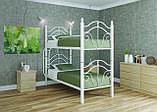 Кровать металлическая Диана 2 яруса на деревянных ногах   Loft Металл-Дизайн, фото 2