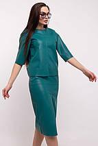 Ультрамодная женская свободная блуза из экокожи (Полин ri), фото 3