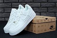Белые мужские кроссовки Найк Аир Форс низкие (Nike Air Force 1 Low White)