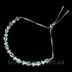 Серебряный браслет с АПАТИТОМ (натуральный!!), серебро 925 пр.