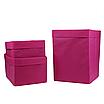 Скринька для зберігання, 25*25*30 см, (спанбонд), з відворотом (рожевий), фото 3