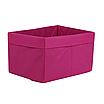 Ящик  (коробка) для хранения, 25 * 35 * 20см, (спанбонд), с отворотом (розовый), фото 2