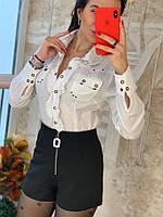 Стильные женские шорты, черные, 211-0451, фото 1
