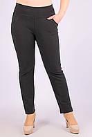 Штаны женские тонкие со стразами на карманах ЧЕРНЫЙ  7XL. Размер (60-62 )