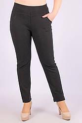Штани жіночі тонкі зі стразами на кишенях ЧОРНИЙ 7XL. Розмір (60-62 )
