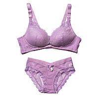 990599 Красивое нижнее белье для кормления грудью кружевное Фиолетовое, фото 1