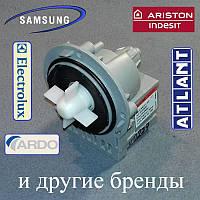 """Сливной насос """"Askoll M231"""" на 3-х саморезах для стиральной машины Indesit, Samsung, Beko и т.д. (медь)"""