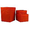Ящик (коробка) для хранения, 30 * 30 * 40см, (спанбонд), с отворотом (оранжевый), фото 3