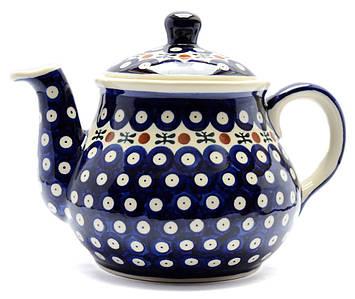 Заварочный керамический чайник 1,5L Вишенки