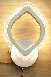 Бра светодиодное настенный LED Светильник Листик 15W 3 режима свечения Белый