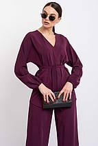 Удлиненная элегантная блуза с V-образной горловиной и рукавом летучая мышь (Шер ri), фото 3