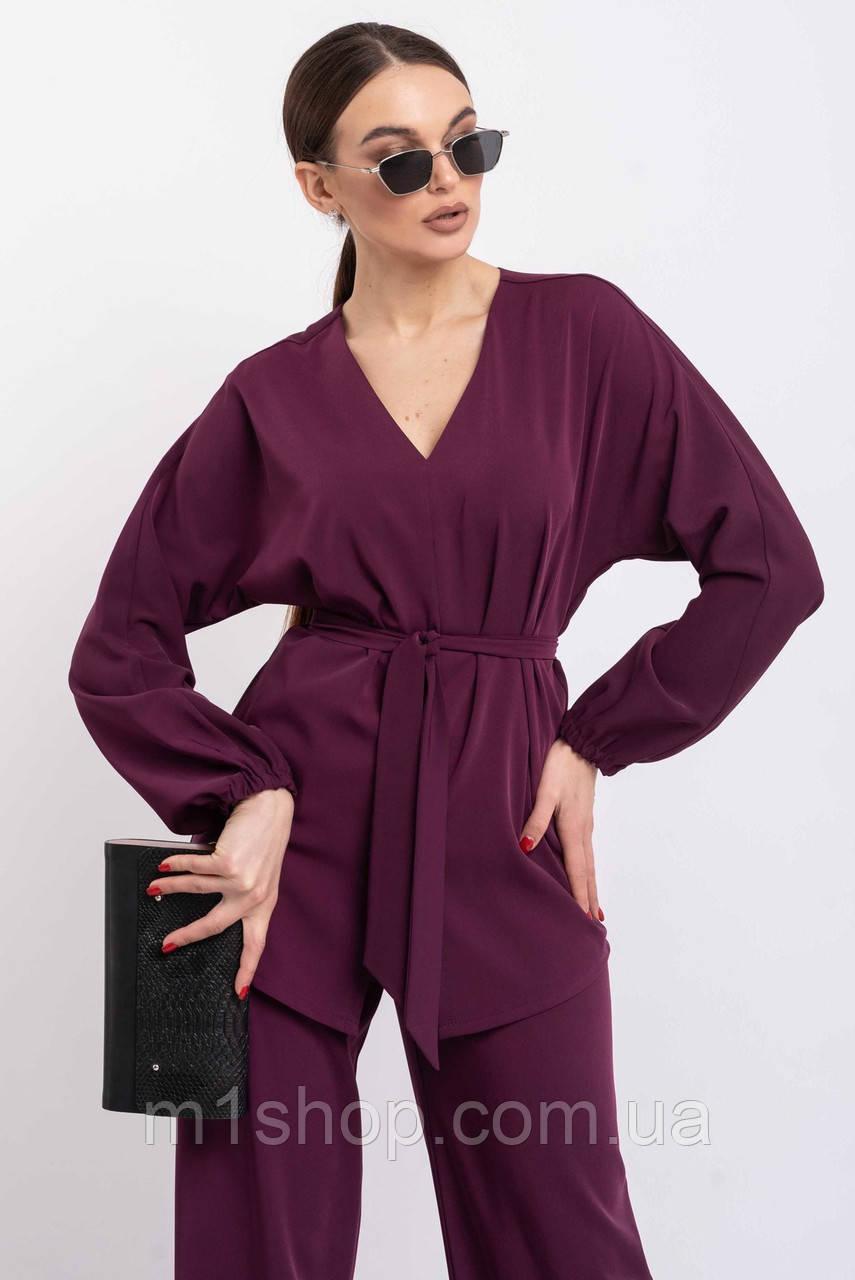 Удлиненная элегантная блуза с V-образной горловиной и рукавом летучая мышь (Шер ri)