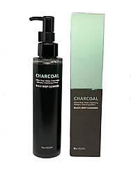 Очищуюча олія для обличчя з деревним вугіллям The Yeon Charcoal Black Deep cleanser
