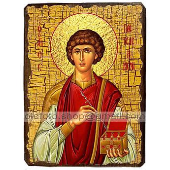 Икона Пантелеймон Святой Великомученик и Целитель ,икона на дереве 130х170 мм