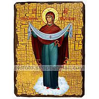 Покров Икона Пресвятой Богородицы (130х170мм)