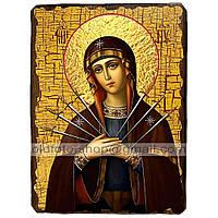 Семистрельная Икона Пресвятой Богородицы (130х170мм)