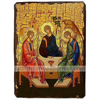 Икона Ветхозаветная Святая Троица ,икона на дереве 130х170 мм