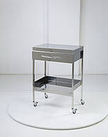 Медицинский столик на 2 полки с ящиком Медаппаратура