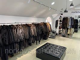 Фирменный норковый полушубок 44 46 размера коричневый