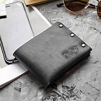 Мужское портмоне кошелек бумажник SHELEN - Old craft ,Black