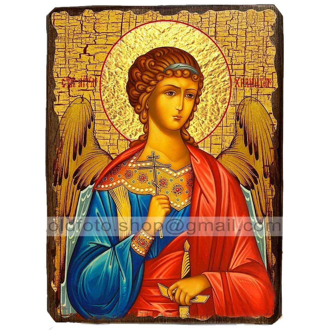Икона Ангел-Хранитель ,икона на дереве 170х230 мм