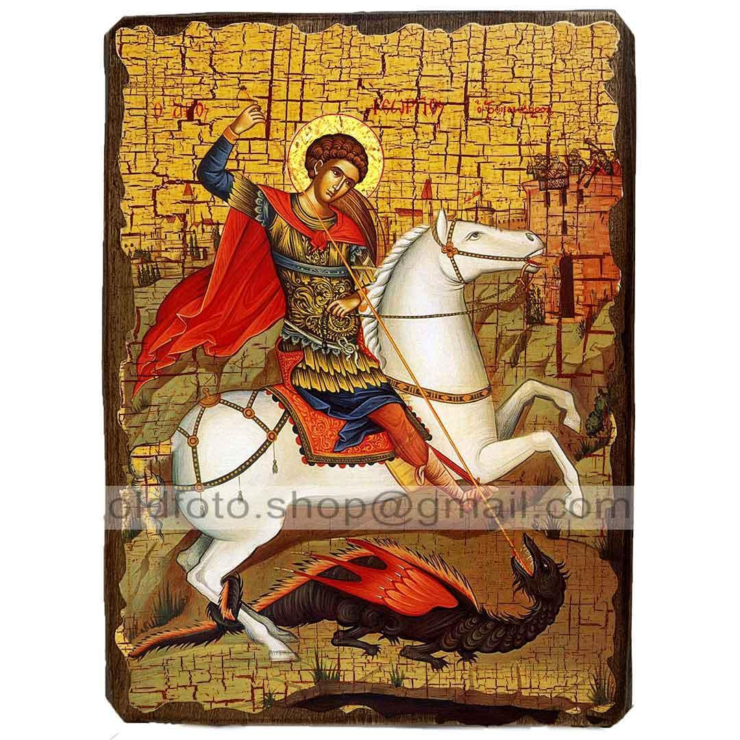 Икона Георгий Святой Великомученик Победоносец ,икона на дереве 170х230 мм