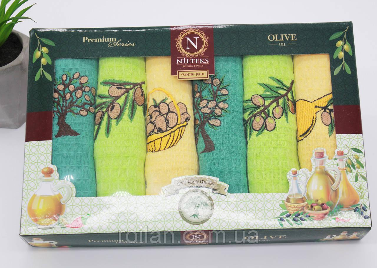Набор турецких кухонных полотенец NILTEKS Olive