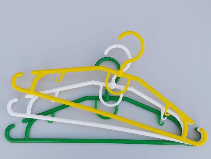 Довжина 39 см. Плічка вішалки пластмасові V-D39, в упаковці 10 штук одного кольору