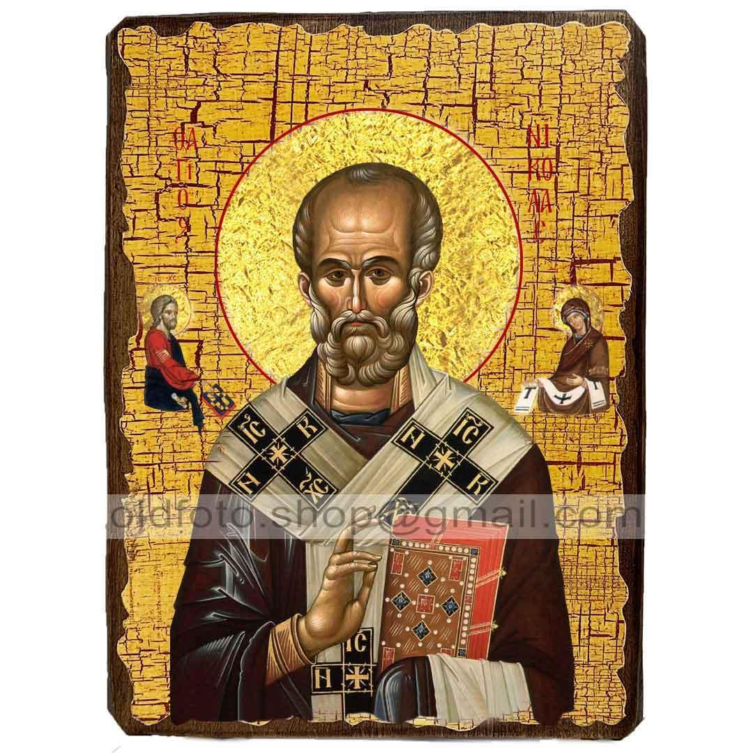 Икона Николай Святой Чудотворец ,икона на дереве 170х230 мм