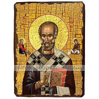 Икона Николай Святой Чудотворец ,икона на дереве 300х400 мм