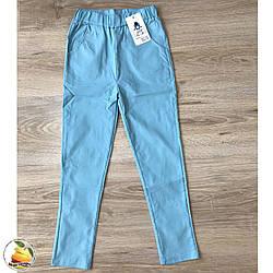 Летние джинсы со стрейчем для девочки Размеры: от 6 до 13 лет (20213-1)