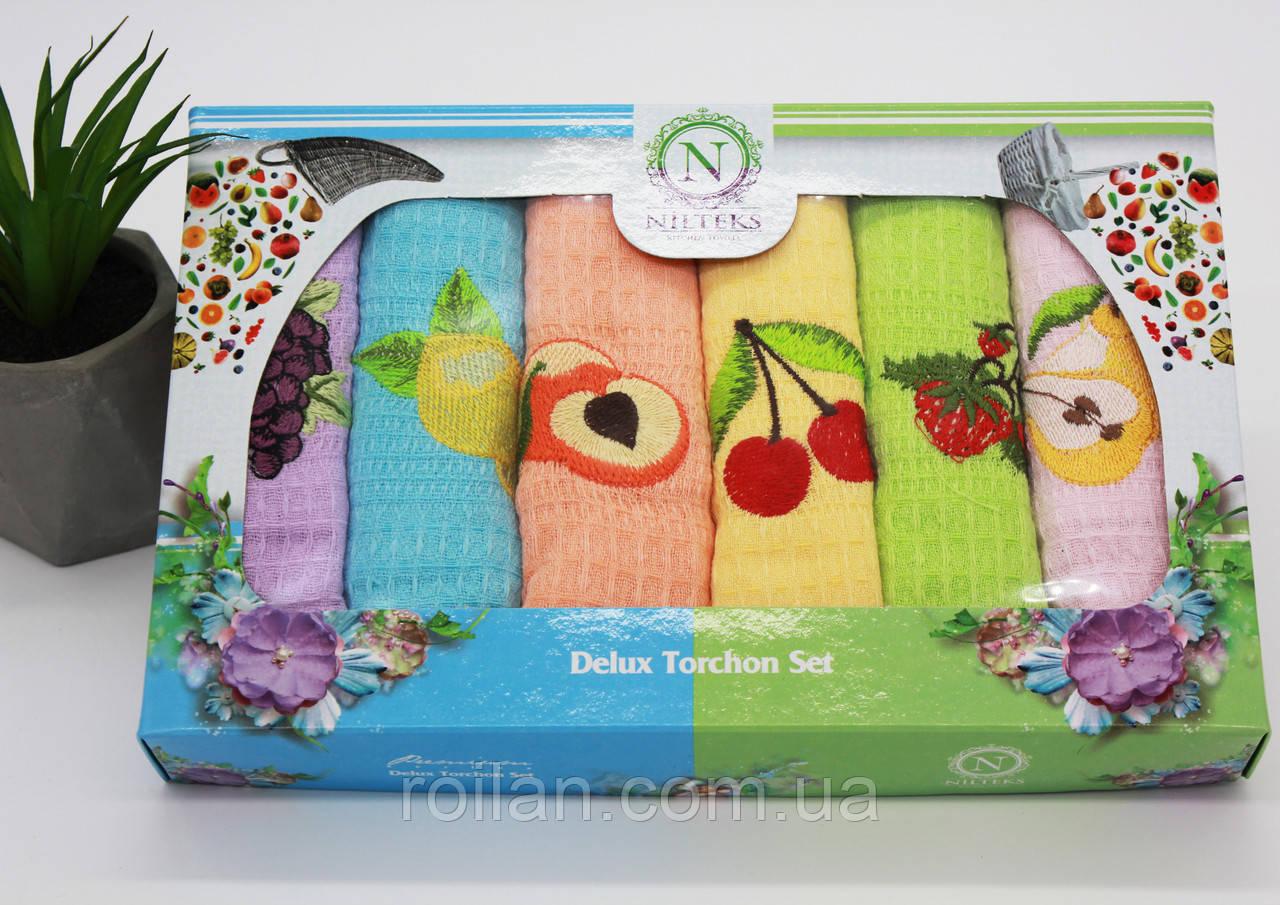 Набор турецких кухонных полотенец NILTEKS Фрукты