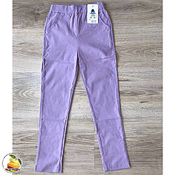 Цветные коттоновые брюки для девочки Размеры: от 6 до 13 лет (20213-2)