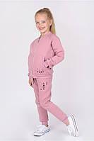 Детский ,теплый спортивный костюм для девочки .Hart . Цвет-пудра