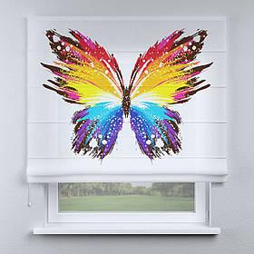 Римская фото штора Бабочка