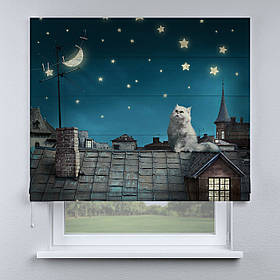 Римская штора Кот на крыше