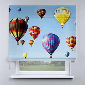 Римская фото штора Воздушные шары