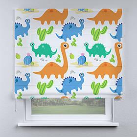 Римская фото штора Динозаврики