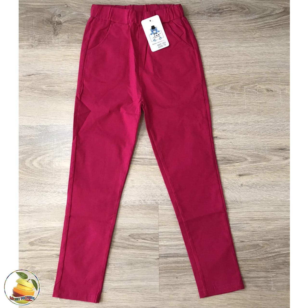 Кольорові котонові штани на літо для дівчинки Розміри: від 6 до 13 років (20213-3)