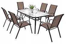 Садовая мебель NEVADA Стол + 6 Кресел Разные цвета