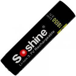 Літієвий акумулятор Li-Ion 18650 Soshine (Panasonic) 3.7 V (3400mAh), захищений