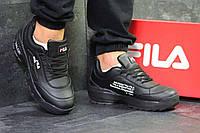 Кроссовки мужские черные в стиле Fila Disruptor 2 Yalor 6151