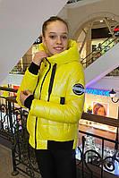 Детская демисезонная куртка для девочек Kristy Желтый (146-164 см) на весна-осень
