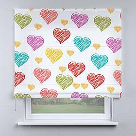 Римская фото штора Сердечки