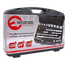 Набор инструментов 20 ед. 3/4 Intertool | ET-6023, фото 2